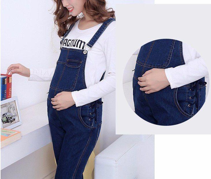 Комбинезон для беременных джинсовый с шортами 33
