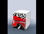 Тумба с ящиками Гонка красный 2
