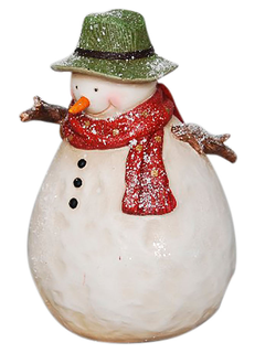 Елочная игрушка DECORATIVE SNOWMAN NIEVA CREAM 15.7X15X22.7 RESINарт.31389