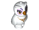 Owl, Elves with Gold Beak, Eyes and Necklace and Lavender Eye Borders Pattern Nascha, White (21333pb01 / 6115821)