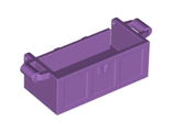 Container, Treasure Chest, Complete Assembly - Thick Hinge, Slots in Back, Medium Lavender (4738ac01)