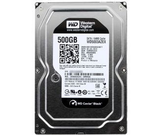 SATA 500Gb WD Caviar Black (WD5003AZEX) {Serial ATA III, 7200 rpm, 64Mb buffer}