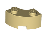 Brick, Round Corner 2 x 2 Macaroni with Stud Notch and Reinforced Underside, Tan (85080 / 6055868)
