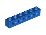 Technic, Brick 1 x 6 with Holes, Blue (3894 / 389423)