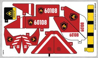Sticker for Set 60108 - International Version  -  24510/6133138 , n/a (60108stk01a)