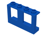 Window 1 x 4 x 2 Plane, Single Hole Top and Bottom for Glass, Blue (61345 / 4577218 / 4651869 / 6207688)