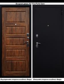 Входная металлическая дверь Юг Viva Porte Шелк/Орех