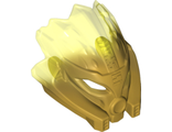 Bionicle Mask of Stone Unity with Marbled Trans-Neon Green Pattern, Pearl Gold (24157pb02 / 6135035)
