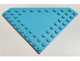 Wedge, Plate 10 x 10 Cut Corner with no Studs in Center, Medium Azure (92584 / 6315800)