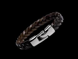 Мужской браслет Leather Fiber LF43687