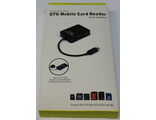 Card reader OTG Mobile S-MCR 517 USB + USB вход мicro SD/MC/MMC/M2/TF (гарантия 1 месяц)