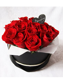 Коробка 15 роз