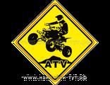 "Знак наклейка ""За рулем квадроциклист"" или ""квадро рулит на бездорожье"" ATV Наклейки с квадроциклами"