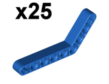 Technic, Liftarm 1 x 9 Bent (6 - 4) Thick,x25, Blue (6629 / 4112284 / 4182884 / 6279882 / 662923)
