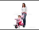 Розовый трехколесный велосипед с ручкой и с сумкой купить в спб недорого в интернет магазине
