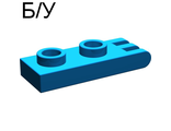 ! Б/У - Hinge Plate 1 x 2 with 3 Fingers, Blue (4275) - Б/У