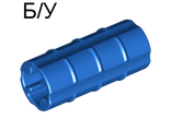 ! Б/У - Technic, Axle Connector 2L  Ridged with x Hole x Orientation , Blue (6538b / 4113807 / 653823) - Б/У