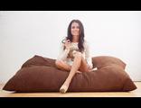 Кресло-подушка 180*140 искусственная замша/жаккард Саванна