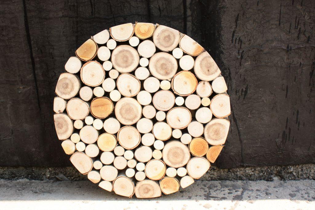 Декор спилами дерева своими руками 76