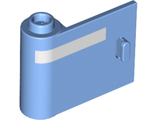 Door 1 x 3 x 2 Left - Open Between Top and Bottom Hinge New Type with Horizontal White Line Pattern, Medium Blue (92262pb004 / 6236642)