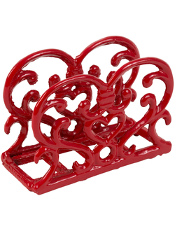 Салфетница 200478 NAPKINS HOLDER RHODONEA RED 14X5.5XH10CM CAST IRON