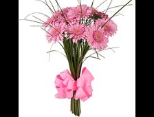 11 розовых Герберов