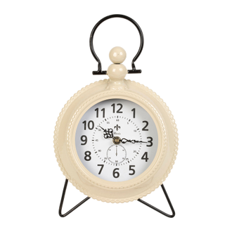 ЧАСЫ НАСТОЛЬНЫЕ 200529 CLOCK GOUSSET IVORY 21.5X5XH34.5CM IRON+GLASS