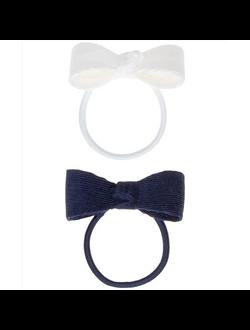 Резинка с декором белый/синий 11020210