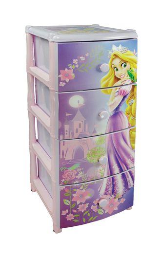 Детский пластиковый комод Дисней принцесса 2 для девочки