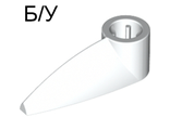! Б/У - Bionicle 1 x 3 Tooth with Axle Hole, White (x346 / 4173941) - Б/У