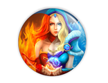 Значок или магнит Lina & Crystal Maiden
