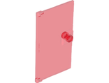Door 1 x 4 x 6 with Stud Handle, Trans-Red (60616 / 6136752)