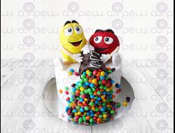 """Торт № 12 """"M&M"""" (Детские торты)"""