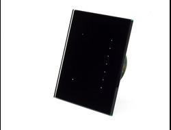 """Q600S (Чёрный)   """"Проходной"""" сенсорный выключатель света / переключатель для любых видов ламп с встроенным - блокирующимся таймером."""