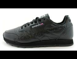 Кроссовки Reebok Classic Black кожаные