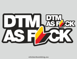 """Dtm as f*ck white"" Car Stickers"