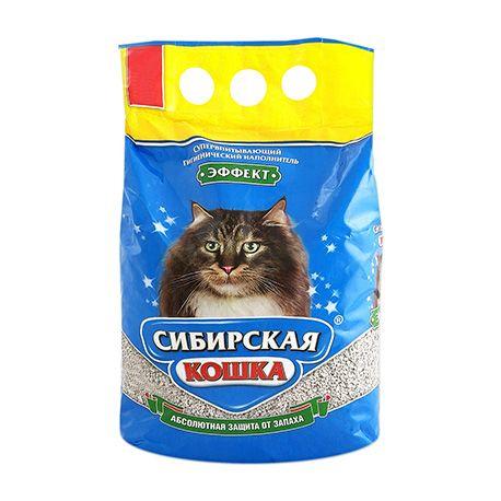 """Наполнитель для кошачьих туалетов Сибирская Кошка """"Эффект 3л"""