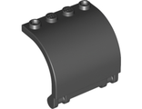 Hinge Panel 3 x 4 x 3 Curved, Black (18910 / 6195271)