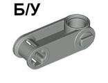 ! Б/У - Technic, Axle and Pin Connector Perpendicular 3L with Pin Hole, Light Gray (32068 / 4114669) - Б/У