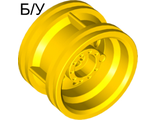 ! Б/У - Wheel 30.4mm D. x 20mm with No Pin Holes and Reinforced Rim, Yellow (56145 / 4490139) - Б/У