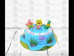 """Торт № 4 """"Губка Боб"""" (Детские торты)"""