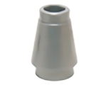 Cone 1 x 1 with Top Groove, Flat Silver (4589b / 6121350)