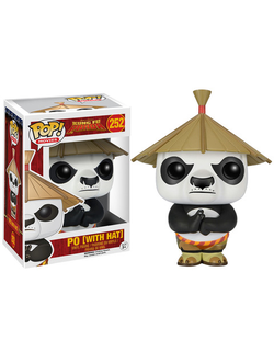 Funko POP Movies: Kung Fu Panda - Po with Hat Action Figure № 252- Фанко Поп! Мультфильмы: Кунг Фу Панда - По в шляпе № 252