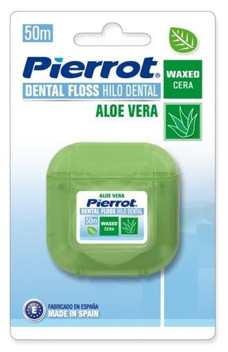 Межзубный флосс Dental Floss Aloe Vera, 50 м, вощеный, Pierrot.