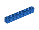 Technic, Brick 1 x 8 with Holes, Blue (3702 / 370223)