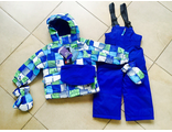 Зимний мембранный комплект Snobug by Krickets (Канада) цвет Green Blue. Варежки в комплекте