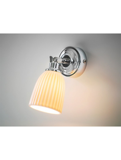 Alma Bathroom Spotlight in Chrome - Ceramic   арт.LIL01