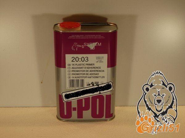 Грунт адгезионный по ABS пластику U-POL (банка 1л.)