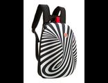 Молодежный рюкзак Zipit SHELL BACKPACKS черный белый