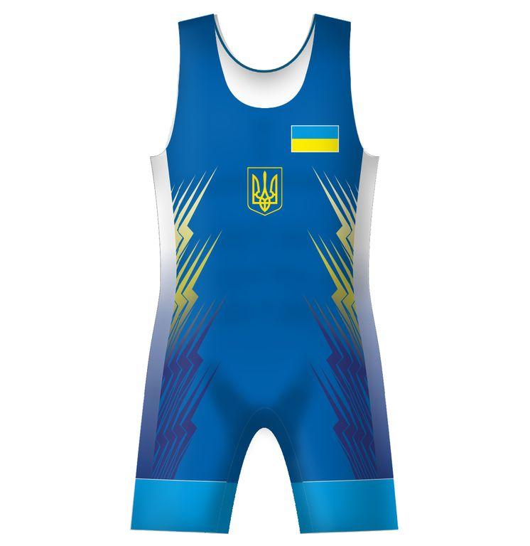 50fc3e5e4 Борцовское Трико сборной Украины UWW Ukraine 2016 Синее Купить Blue ...